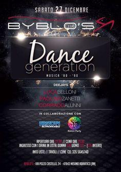 Torna poco prima della fine dell'anno Dance Generation al Byblos Riccione. La nuova serata che ha per protagonista l'Altromondo Studios