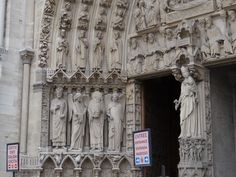 Saints and Angels relief on Notre Dame