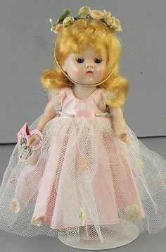 Painted-Lash-Strung-Vogue-Ginny-Doll-Blond-Tagged-Dress