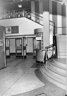 Part of the Foyer . Taken before it was ruined and turned into atriple cinema Walsall, Backyard Garden Design, West Midlands, Local History, My Town, Deco, Old Pictures, Birmingham, Stairs