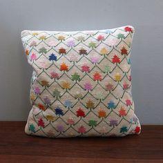 Pastel Bargello. 1970s needlepoint throw pillow. by Kultur on Etsy, $22.00
