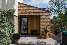 timber shingle, lean to, extension