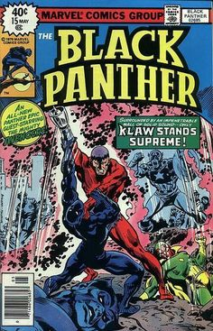 Black Panther #15 cover by John Buscema