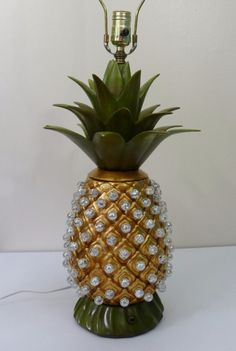 Your place to buy and sell all things handmade Pineapple Lamp, Marbles, Vintage Ceramic, Table Lamps, Mid Century, Ceramics, Free Shipping, Gold, Art