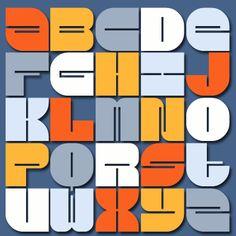 Blueback font on Fontstruct