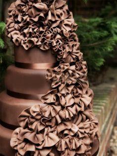 Chocolate Ruffled Cake!! Yumm