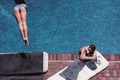 Richard Gere poolside. Photograph by Herb Ritts.