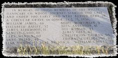 Pioneers who died and were buried at Rock Creek Hollow ~ October 25 & 26, 1856 © Copyright  Mormon-pioneer-trek.com