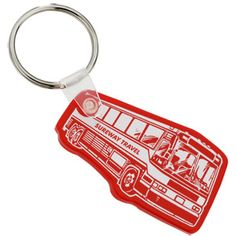 Keep the wheels of advertising turning with this promotional key tag!