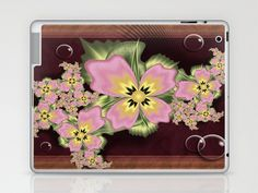 Fractal 95 Floral Delight. Laptop & iPad Skin by Louise Wagstaff - $25.00