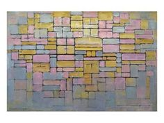 Tableau No. 2 Art Print by Piet Mondrian at Art.com