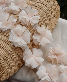 Hey, I found this really awesome Etsy listing at https://www.etsy.com/listing/170208888/peach-chiffon-rosette-trim-chic-rosette