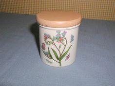 1972 PORTMEIRION SUSAN WILLIAMS-ELLIS BOTANIC GARDEN CANISTER SPICE JAR FORGET-ME-NOT. FOR SALE IN MY STORE: https://www.ebluejay.com/Ads/Item/6164263