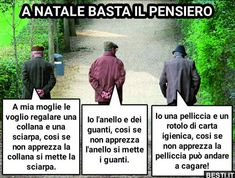 A natale basta il pensiero | BESTI.it - immagini divertenti, foto, barzellette, video Funny Images, Funny Photos, Italian Proverbs, Zodiac Quotes, Tumblr Posts, Funny Moments, Entertaining, In This Moment, Memes