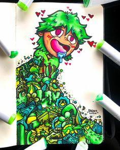 Doodle Art Designs, Doodle Ideas, Doodle Art Drawing, Art Drawings, Doddle Art, Copic Art, Madhubani Art, Harry Potter Art, One Piece Manga