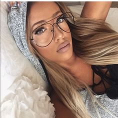 Classic clear aviator glasses Brand new!! No trade comes with dust bagbrand not as listed light weight adjustable nose pad Nasty Gal Accessories Glasses