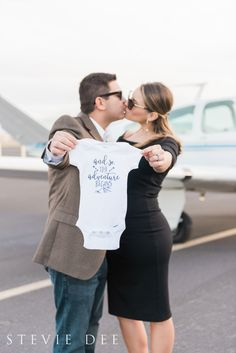 Next Stop: Parentville Alicia and Chris were married in 2014 and began their newlywed life together traveling the world. Chris is a local real estate agent and Alicia works in administration for a local college, currently residing in Temecula, Ca with their two dogs, but they couldn't wait to start a family! We met them at the French Valley Airport for a travel themed baby announcement to surprise their friends and family with the big news! Now, they embark on a whole new adventure, p...