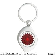 Abstract Red and Black Gear- or Flower-like Shape