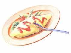 Colored Pencil Drawings of Japanese Food (Vol.01) - Colored Pencil Drawings of Foods Wallpaper   10