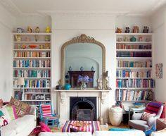 alcove book shelves