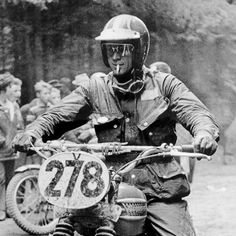 Steve McQueen Off Road Racing on the Triumph TR6 | Column M chronicles McQueen's early life, along with photos of McQueen campaigning his iconic #278 Triumph TR6 at The International Six Days Trial in Germany
