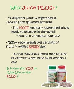 What vitamins should I take? Take whole food! www.livlifejuiceplus.com