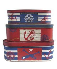 Take a look at this Nautical Box Set by Fancy That Gift & Décor on #zulily today!
