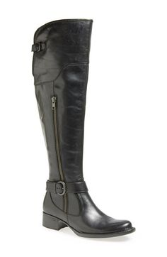 $200  Free shipping and returns on Børn 'Selyse' Over the Knee Boot (Women) at Nordstrom.com. Hand-sewn Opanka construction lends lasting comfort and durability to a classically styled over-the-knee boot cut from full-grain Italian leather. A decorative outside zip adds a hint of edge, while an adjustable strap in back helps secure the sleek look. Inside the plush velveteen lining is printed in a jewel-toned swirl of color.