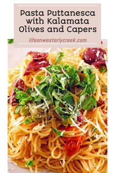 Pasta Puttanesca is worth every sinfully garlic, salty, and spicy bite! (and ready in 30 minutes!) Spicy Bite, Pasta Puttanesca, Spicy Sausage, Kalamata Olives, Fresh Bread, How To Cook Pasta, Pasta Dishes, Easy Family Meals