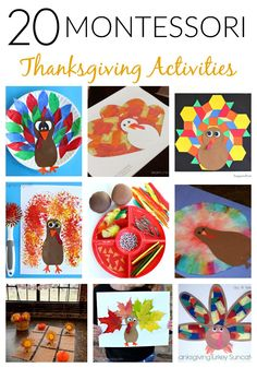 Don't fear, 20 rock solid Montessori Thanksgiving activities are here! Check out these amazing, fun, and unique art, math, fine motor, and language ideas!