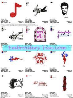 ELVIS EMBROIDERY DESIGNS - Embroidery-Fun.com