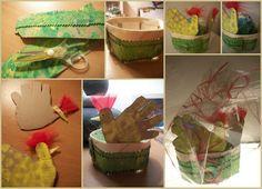 DIY easter basket for easter eggs...