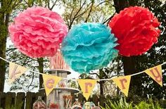 Garden party pom poms. Create a wonderland with Dylan's Candy Bar party accessories.