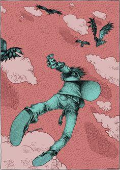 Illustration By Gerhard Human Creative Illustration, Illustration Sketches, Graphic Design Illustration, Illustrations Posters, Illustration Artists, Character Illustration, Character Drawing, Character Design, Art Drawings
