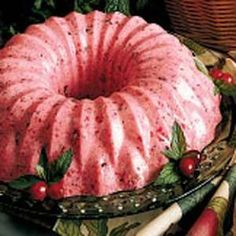 Fluffy Cranberry Mousse Recipe...my Thanksgiving favorite!  Tastes so good you will eat it for dessert! :)