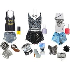 Which is your favorite?     Cut Off Shorts, created by andrea-belschner on Polyvore