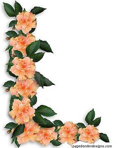 Latest Flowers Border Design Arts Pinterest Border design