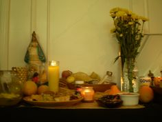 Offerings and food for the Goddess Oshun.