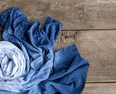 Ombré Schal Indligo Deep Blue Marine Hand dyed von frenchfelt