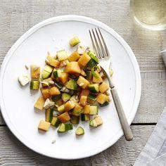 Cantaloupe Cucumber Salad with Basil and Feta on Food52
