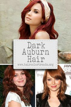 Auburn is a variant shade belonging to the red hair color, and dark auburn hair color of course adds more vibrancy and brilliance to your hair than its lighter version. #hair #haircolor #haircolortrends