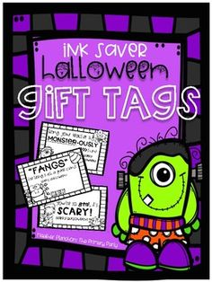 """These fun gift tags are a perfect way to give your students an easy, inexpensive Halloween treat! Simply print on colored paper and pair with a small Halloween favor or piece of candy. Here are some suggested alternative-to-candy treat ideas: """"You're so great it's SCARY!"""" - pair"""