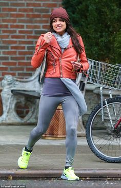 Michelle Rodriguez Smile | Michelle Rodriguez puffs away on an E cigarette before heading to the ...