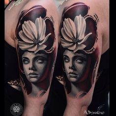 alex-pancho-lady-and-flower-tattoo.jpg (640×640)