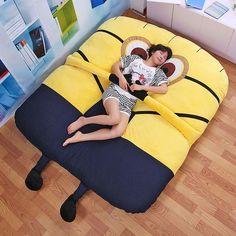 Large Despicable me Giant Minions Bed Mattress Cushion Beanbag   #me #igdaily #f4f #followforfollow #followme #followbackteam #toptags #friends #@topTags #autism