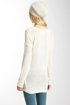 American Vintage  Long Sleeve Pullover Sweater - winter white - knits