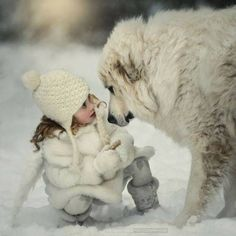 The 5 Most Loyal Dog Breeds Breed : – Great Pyrenees: It's no surprise this breed is considered one of the most loyal dogs out. Loyal Dog Breeds, Loyal Dogs, N Animals, Animals For Kids, Art Photography Portrait, Human Photography, Gifs, Gif Animé, Mundo Animal