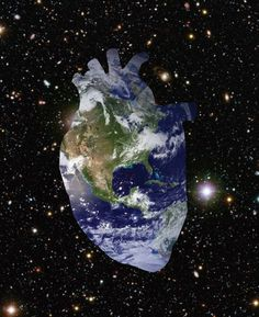Earth Heart. (Found on space) #anatomical #heart #collage