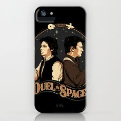 Duel in Space iPhone Case by Zerobriant - $35.00