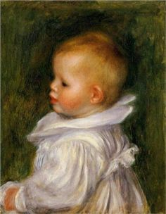 'Portrait of Claude Renoir,' Pierre-Auguste Renoir,  Start Date ca.1902 and Completion Date was 1903,  Impressionism, Oil on Canvas Portrait.